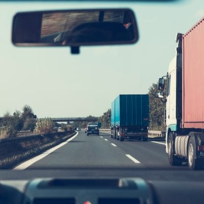 Semi Trucks on Highway