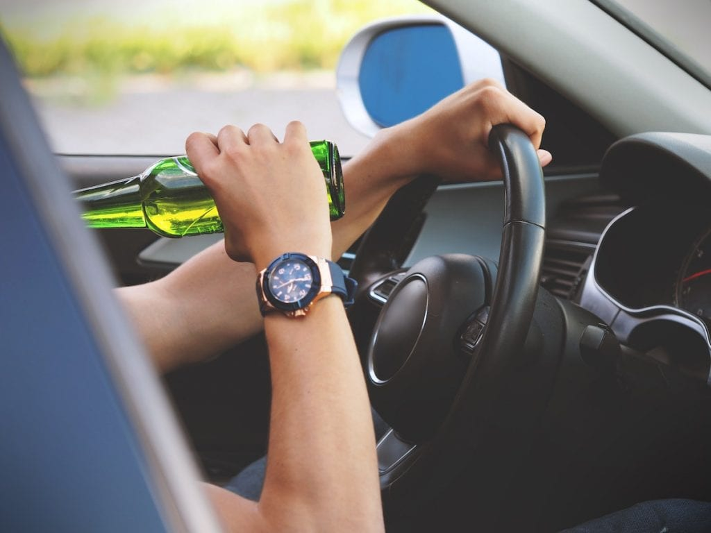 Alcohol in Car - Drunk Driving